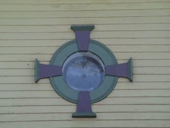 pressed metal panel detail, west elevation.&