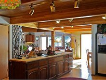 whispering pines bed and breakfast kitchen