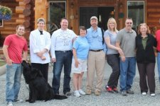 Group in front of Crooked Creek