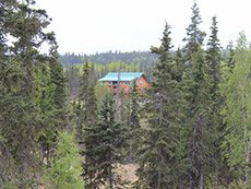 Crooked Creek Retreat view from east side of Crooked Creek