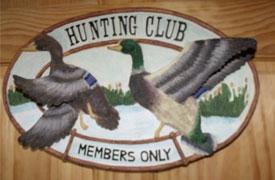 Hunting Club sign