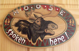 Moose Room sign