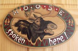 Moose Room sign