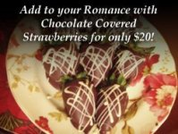 add chocolate covered strawberries