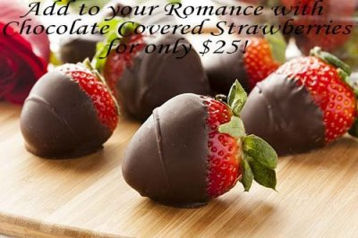 chocolate covered strawberries at Songbird Prairie