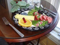 seasonal fruits prepared for breakfast
