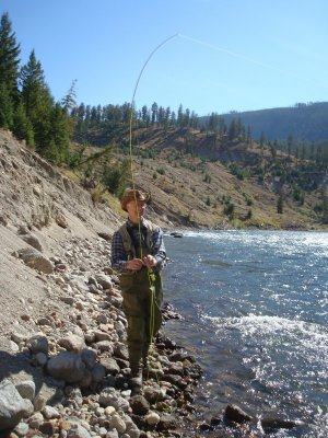 fly fishing on the Yellowstone River, Yellowstone National Park