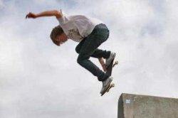 Skateboarding in Smelter City Skate Pit