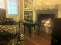 The fireplace and sitting area in the Great Room