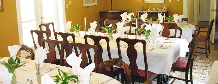 Dining Room Set for an Event at Hillsdale House Inn