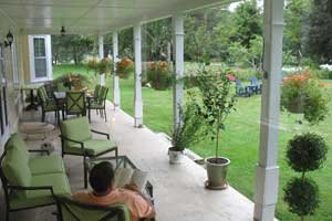 covered veranda seating