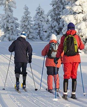cross country skiing near Candlewycke Inn