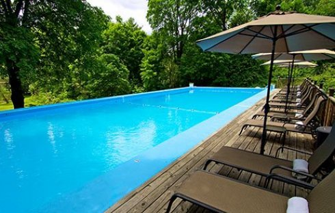 heated pool at Garden Gables in Lenox, MA