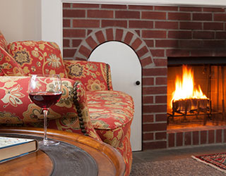 Fireplaces at Garden Gables Inn in Lenox, MA