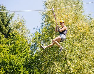 zip line near Garden Gables Inn in Lenox, MA