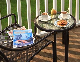 Outdoor Table with Breakfast