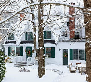 Winter at Garden Gables Inn in Lenox, MA