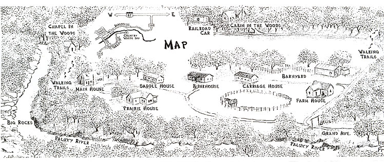Map of Country Woods Inn