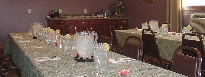 Hearthstone Inn has facilities for catered events
