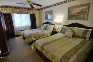 double queen room at Hearthstone Inn and Suites in Cedarville, Ohio