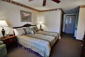 king room at Hearthstone Inn and Suites in Cedarville, Ohio