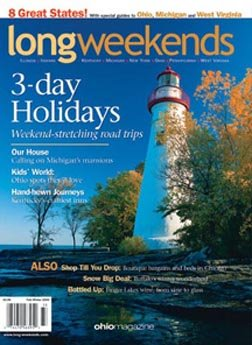 Long Weekends magazine mentioning Hearthstone Inn and Suites