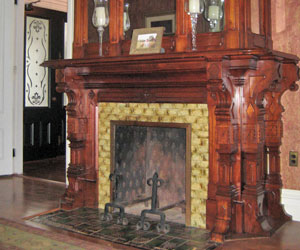 Fireplace at Back Inn Time