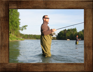 river Fishing at Alaska Riverview Lodge in Kasilof Alaska