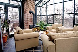 Rooftop Solarium at the Thorwood Rentals and Retreats in Hastings, Minnesota