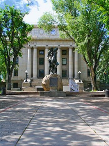 historic courthouse in Prescott, Arizona near Pleasant Street Inn bed and breakfast