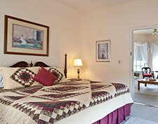 The Pine View Suite bedroom at the Pleasant Street Inn Bed and Breafkast in Prescott Arizona