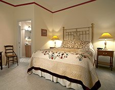 The Terrace Suite bedroom at Pleasant Street Inn Bed and Breafkast in Prescott Arizona