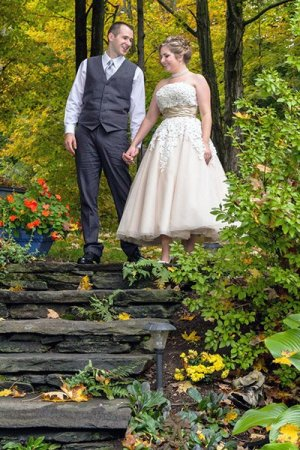Newly weds at 1868 Crosby House in Brattleboro, Vermont