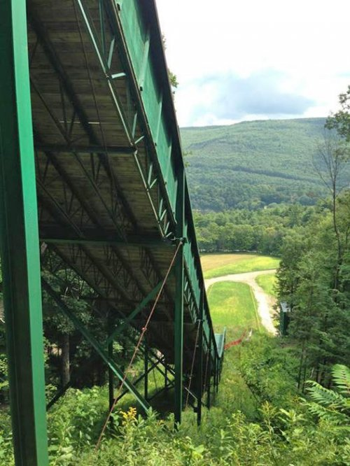 Harris Hill Jump roller coaster near brattleboro, vermont