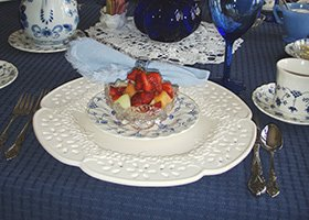 fruit bowl for breakfast at 1868 Crosby House in Brattleboro, Vermont