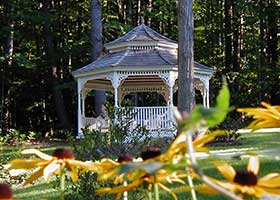 The Gazebo at 1868 Crosby House in Brattleboro, Vermont