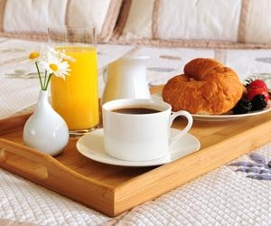 Breakfast in Bed Package Special at Robinwood Bed and Breakfast in Little Rock, Arkansas