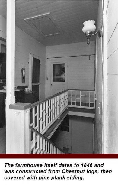 stairs at York House in Rabun Gap, Georgia