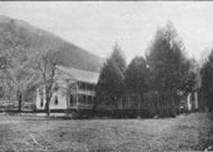 1918 view of York House Inn in Rabun Gap, Georgia