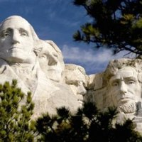 Mount Rushmore in Blackhills and Badlands