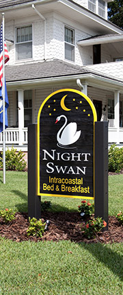 Night Swan Intracoastal Bed and Breakfast Sign