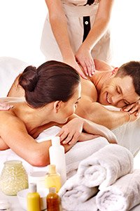 couple's massage at Night Swan bed and breakfast in New Smyrna Beach, Florida