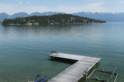 Boat Pier / Access at Swan Hill Bed and Breakfast in Polson Montana