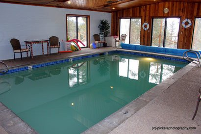 Swimming Pool and Steam Sauna at Swan Hill Bed and Breakfast in Polson Montana
