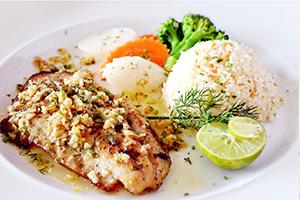 fish in restaurant near Kona Guest House in Kona, Hawaii