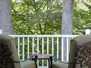 Franconia treetop at Adair Inn in Bethlehem, New Hampshire