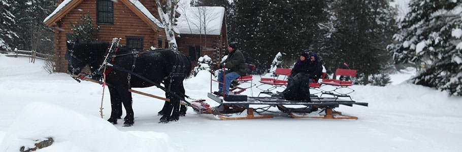sleigh ride near Adair in Bethlehem, New Hampshire