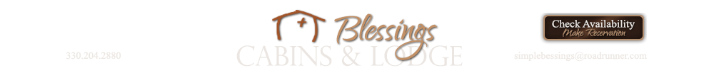 Blessings Lodge and Cabins in Millersburg, Ohio