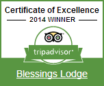 TripAdvisor Certificate of Excellence: Blessings Lodge