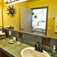 #11 bathroom in Blue Iguana Inn in Ojai, California